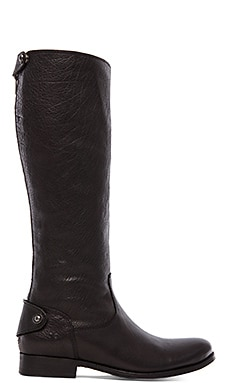 Frye Melissa Button Back Zip Boot in Black