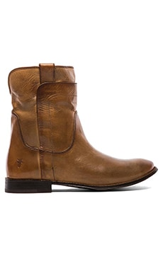 Frye Paige Short Riding Boot in Camel