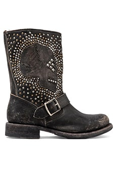 Frye Jenna Skull Stud Short Boot in Black