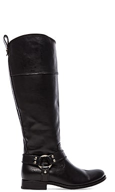Frye Melissa Harness Inside Zip Boot in Black