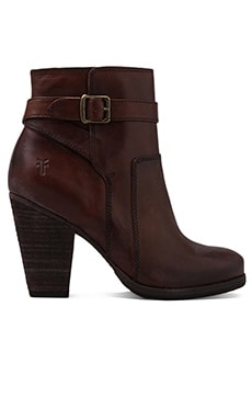 Frye Patty Riding Bootie in Redwood