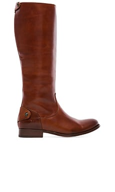 Frye Melissa Button Back Zip Boot in Cognac