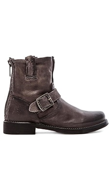 Frye Vicky Artisan Back Zip Boot in Charcoal