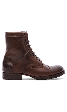 Frye Erin Lug Boot in Dark Brown