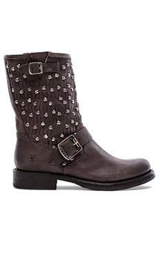 Frye Jenna Cut Stud Short Boot in Charcoal