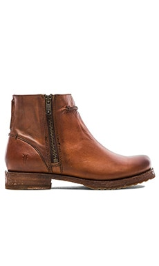 Frye Veronica Seam Short Boot in Cognac