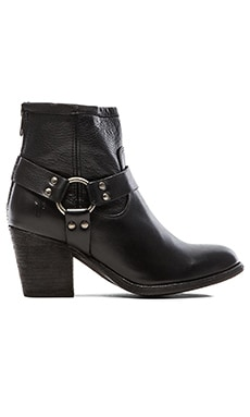 Frye Tabitha Harness Short Bootie in Black
