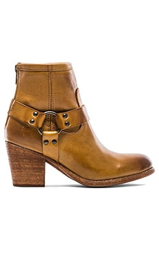 Frye Tabitha Harness Short Bootie in Camel