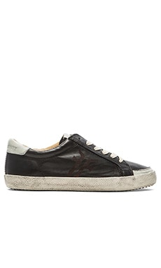 Frye Dillon Low Lace Sneaker in Black