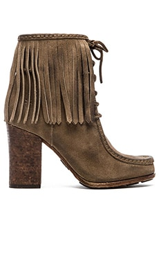 Frye Parker Fringe Short Boot in Grey