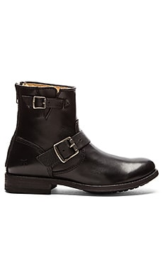 Frye Tyler Engineer Boot in Black