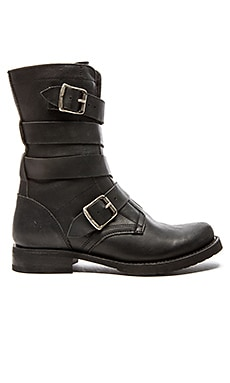 Frye Veronica Tanker Boot in Black