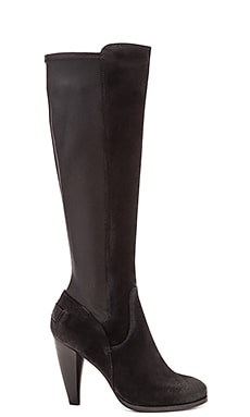 Frye Mikaela Stretch Tall Boot in Black Suede