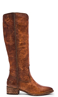 Frye Ray Seam Tall Boot in Cognac