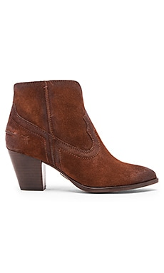 Renee Seam Short Bootie in Brown