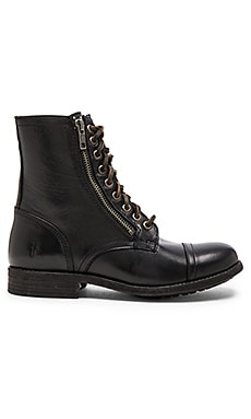 Frye Tyler Double Zip Boot in Black