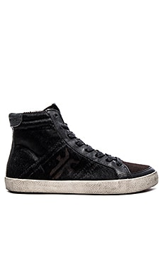 Frye Dylan Calf Hair High Top Sneaker in Black