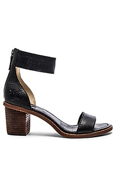Frye Brielle Back Zip Sandal in Black