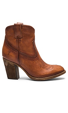 Frye Ilana Pull On Short Boot in Cognac
