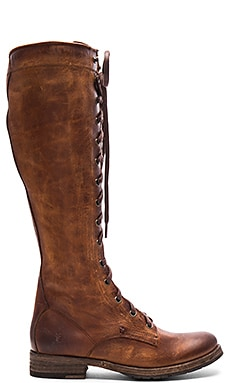 Melissa Tall Lace Boot in Cognac