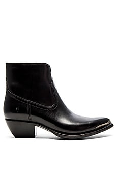 Shane Tip Short Boot in Black