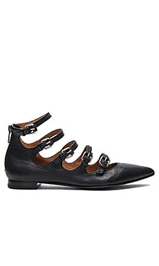 Sienna Buckle Ballet Flat in Black