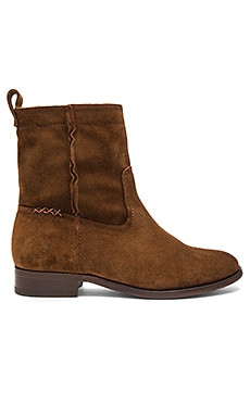 Cara Short Boot in Wood