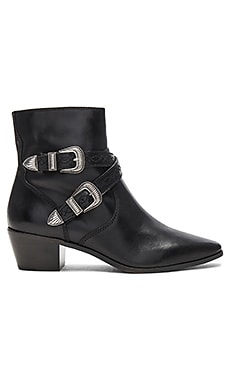 Ellen Buckle Short Bootie in Black