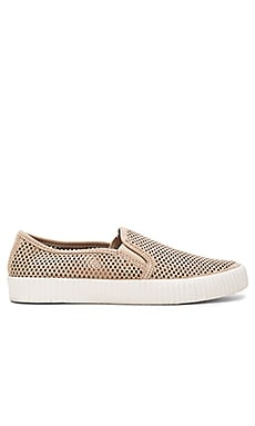 Camille Perforated Slip On in Taupe