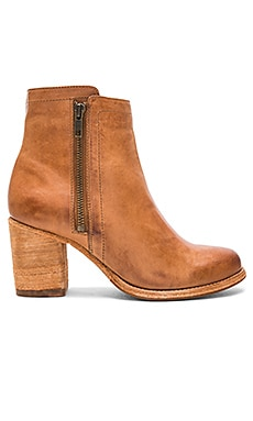 Addie Double Zip Bootie en Naturel