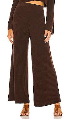 x REVOLVE Rib Knit Wide Leg Trouser Flook The Label $99