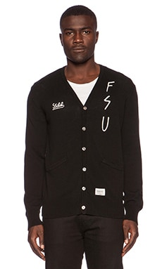 Fuct SSDD DFFL 13 Cardigan in Black