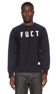 Fuct SSDD Campus Crewneck Sweatshirt in Navy