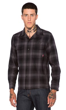 Fuct Ombre Check Shirt in Black