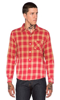 Fuct Faded Flannel Shirt in Red