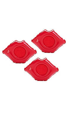 Lip Inflatable Drink Holder Set Of 3 in Red