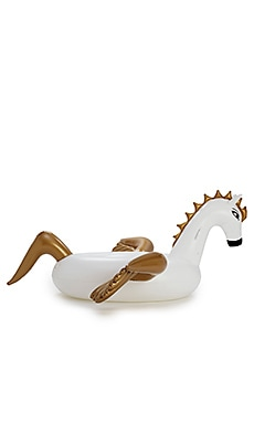 Inflatable Pegasus Pool Float in White & Gold