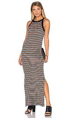 Ganni Sleeveless Maxi Dress in Multi Color