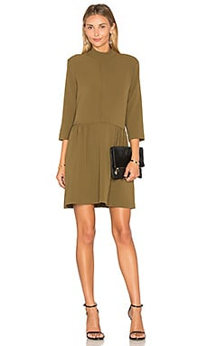 Clark Dress in Dark Olive