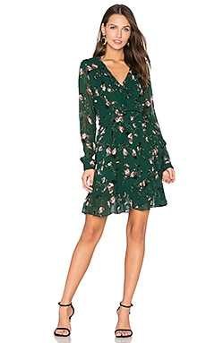 Marietta Georgette Dress in Pine Grove Leaves