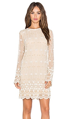 Long Sleeve Embellished Shift Dress