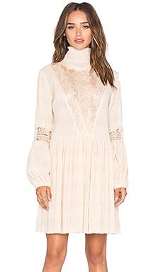 Миди платье с длинным рукавом и высоким воротом - Ganni