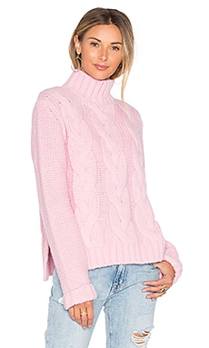 Brooks Turtleneck Sweater in Peony Melange