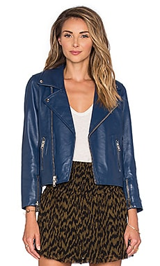 Ganni Biker Jacket in Total Eclipse