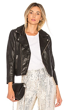 Ganni Biker Jacket in Black