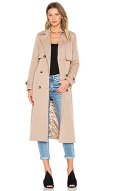Ganni Brown Trench Coat in Praline
