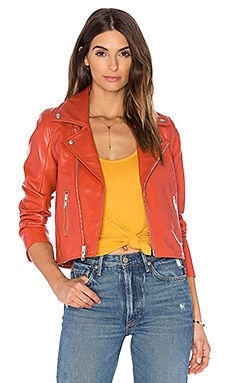 Ganni Biker Jacket in Red Clay