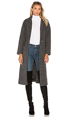 Fenn Wrap Coat in Smoked Pearl Melange