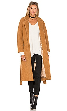 Fenn Wrap Coat in Tobacco Brown