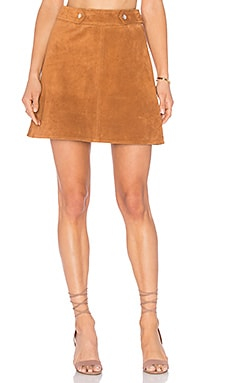 Ganni A Line Skirt in Cognac